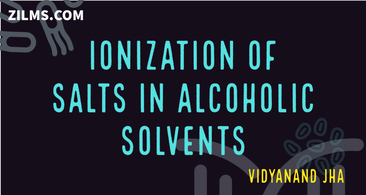 IONIZATION OF SALTS IN ALCOHOLIC SOLVENTS